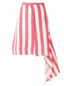 Marques'Almeida asymmetric striped skirt - Red