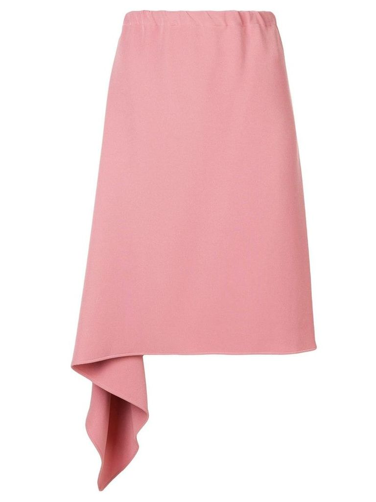 Mm6 Maison Margiela draped hem asymmetric skirt - Pink