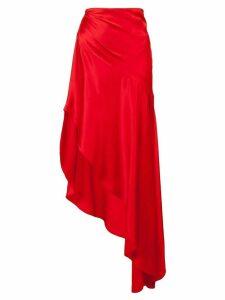 Monse asymmetric long skirt - Red