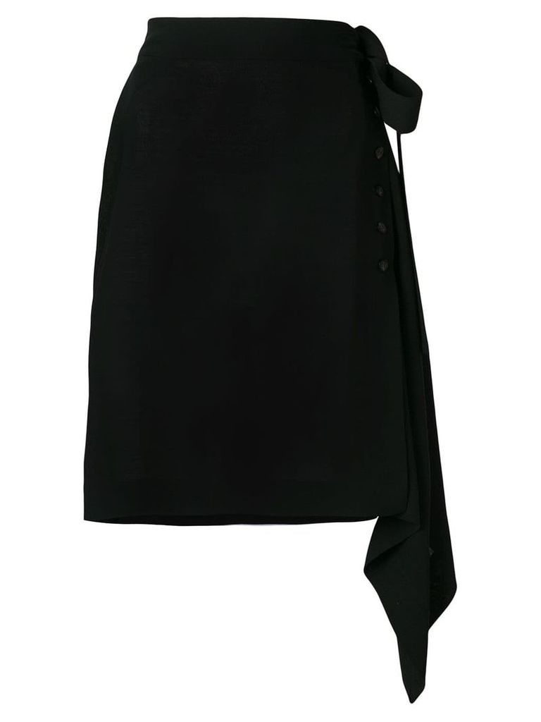 Rick Owens asymmetric wrap skirt - Blue