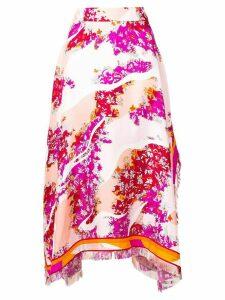 Emilio Pucci floral asymmetric skirt - PINK