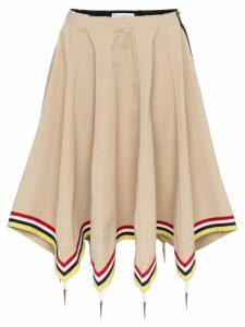 JW Anderson flax umbrella skirt - Neutrals