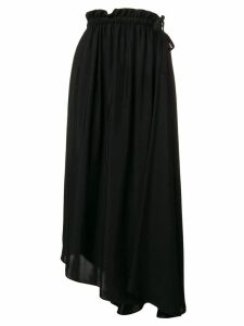 Kenzo drawstring flared midi skirt - Black