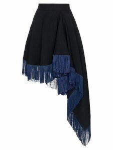 Calvin Klein 205W39nyc asymmetric fringe skirt - Blue