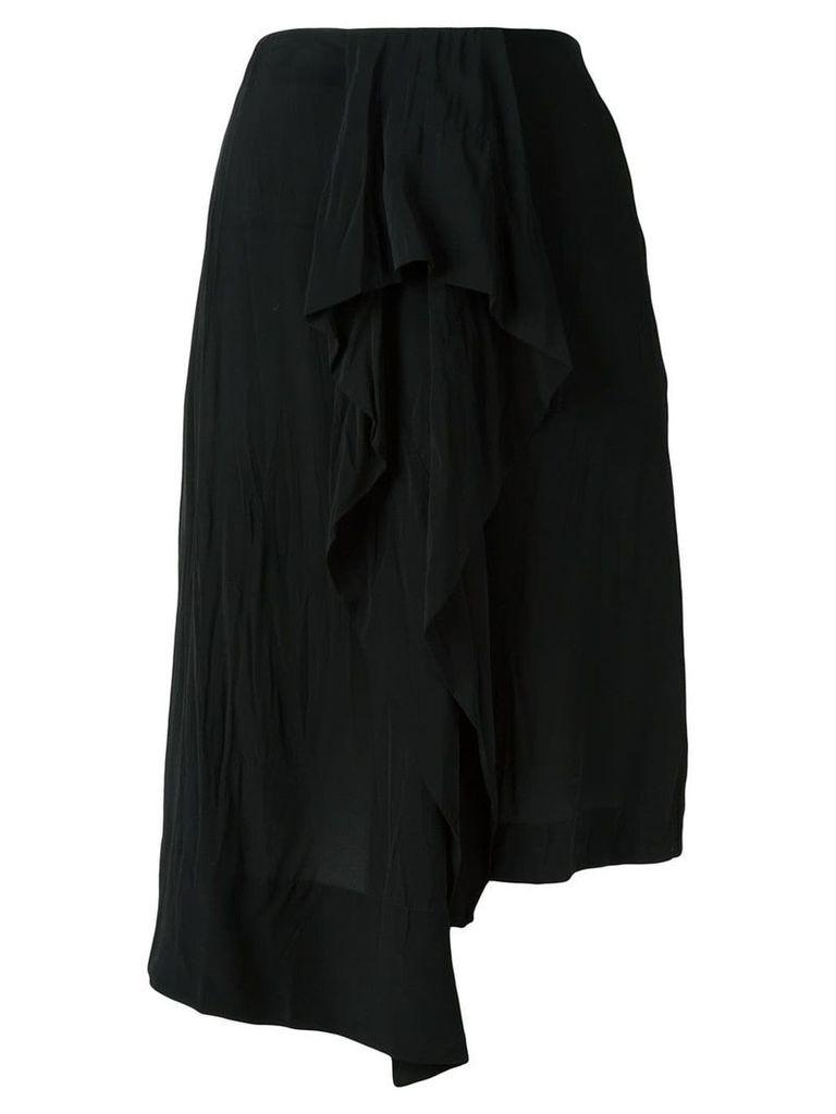 Loewe asymmetric midi skirt - Black
