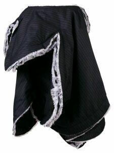 Comme Des Garçons asymmetric pinstripe skirt - Blue