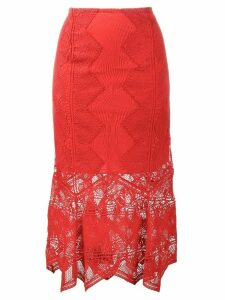 Jonathan Simkhai lace mid-length skirt - Red