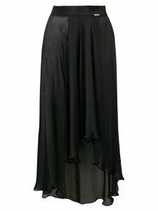 Styland draped front skirt - Black