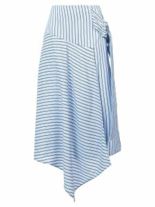 Tibi striped asymmetric skirt - Blue