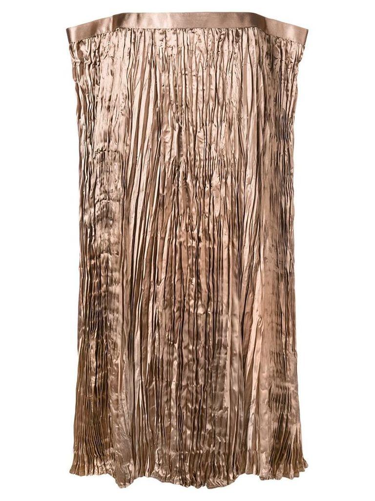 Junya Watanabe asymmetric shaped skirt - Brown
