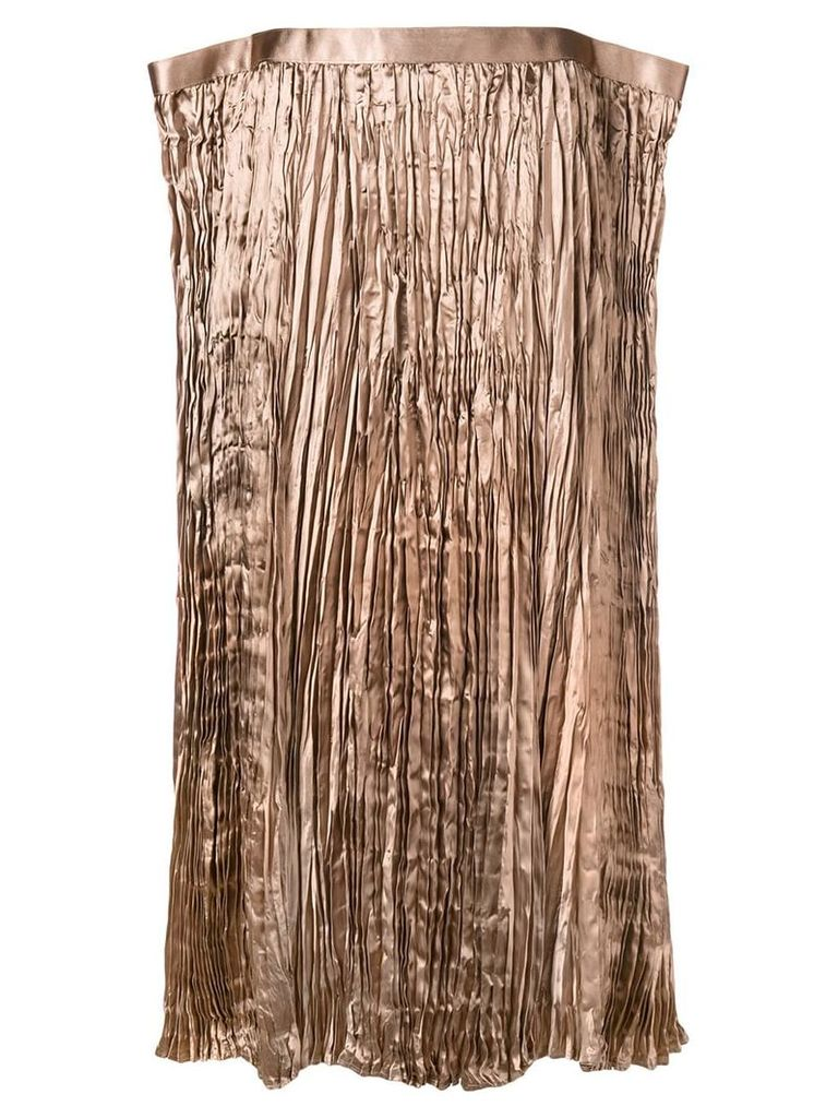 Junya Watanabe asymmetric shaped skirt - Brown