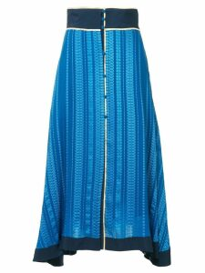 Zeus+Dione patterned asymmetric skirt - Rough Blue 124
