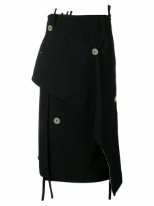 3.1 Phillip Lim Asymmetrical Wool Skirt - Black