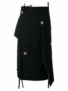 3.1 Phillip Lim Asymmetrical Wool Skirt - Black