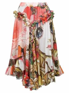 Comme Des Garçons printed doll skirt - Multicolour