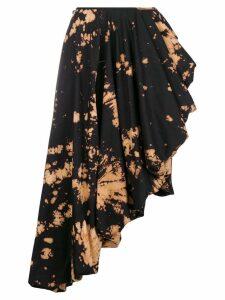 Marques'Almeida bleached asymmetric midi skirt - Black