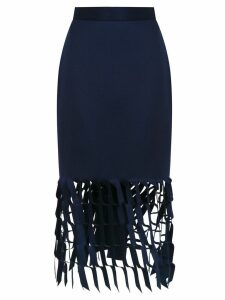 Gloria Coelho cut out detail skirt - Blue
