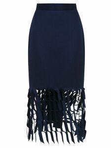 Gloria Coelho cut out detail skirt - Blue