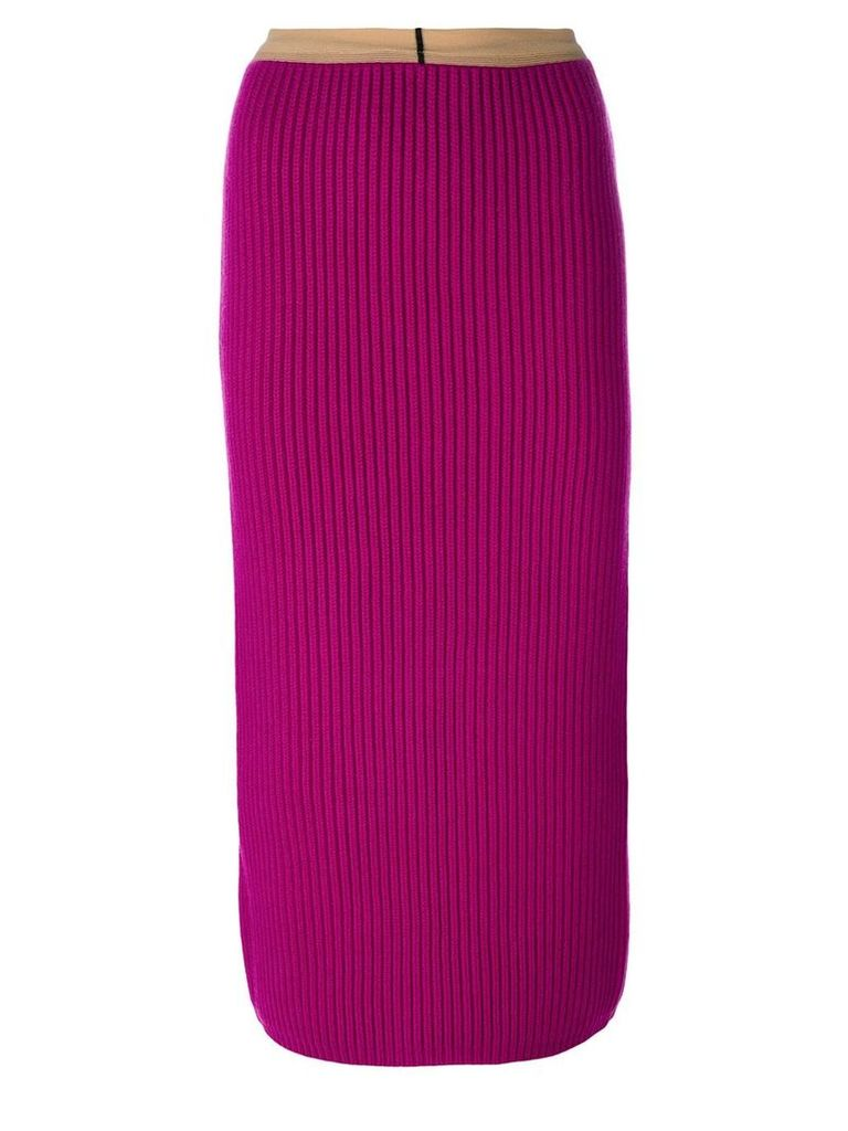 Calvin Klein 205W39nyc ribbed bodycon mid-length skirt - Pink