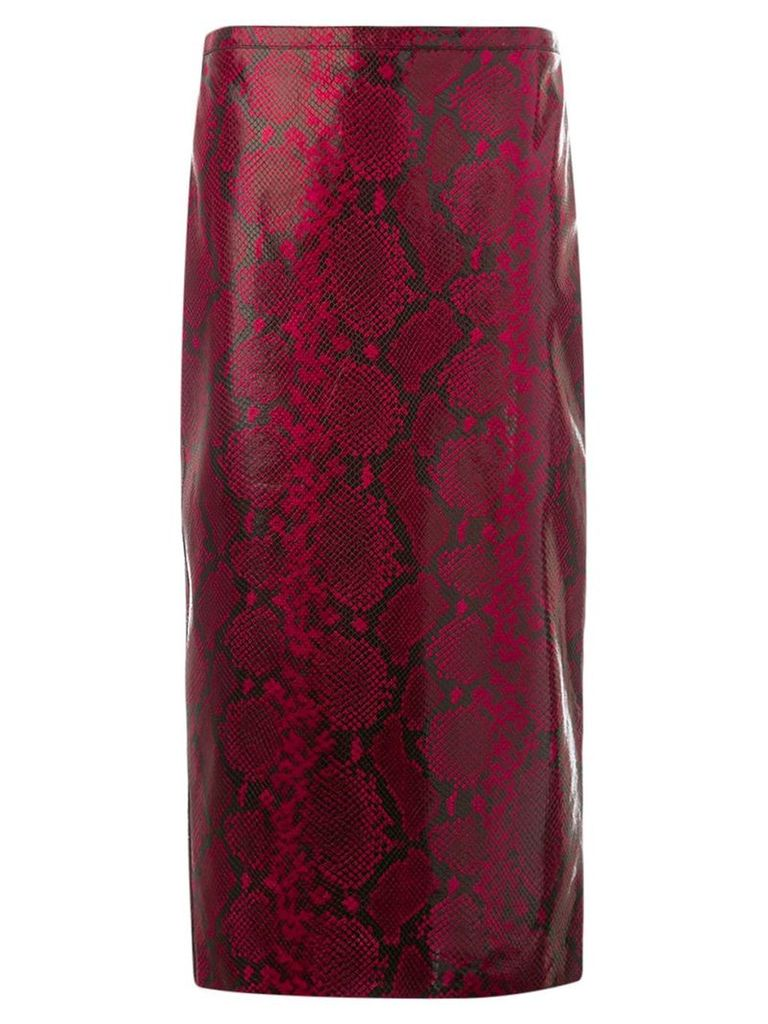 Rochas fitted skirt - Red