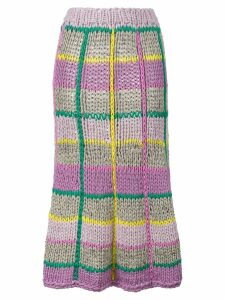 Natasha Zinko Knit Skirt With Check Pattern - Multicolour