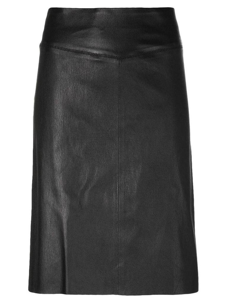 Joseph panelled fitted skirt - Black