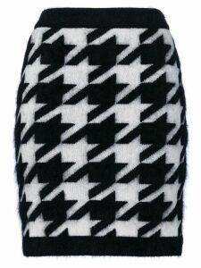 Balmain knitted Houndstooth skirt - Black