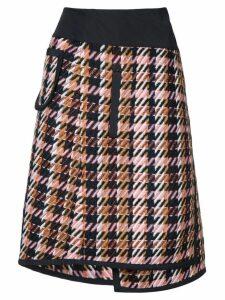 Public School Shula layered plaid skirt - Multicolour