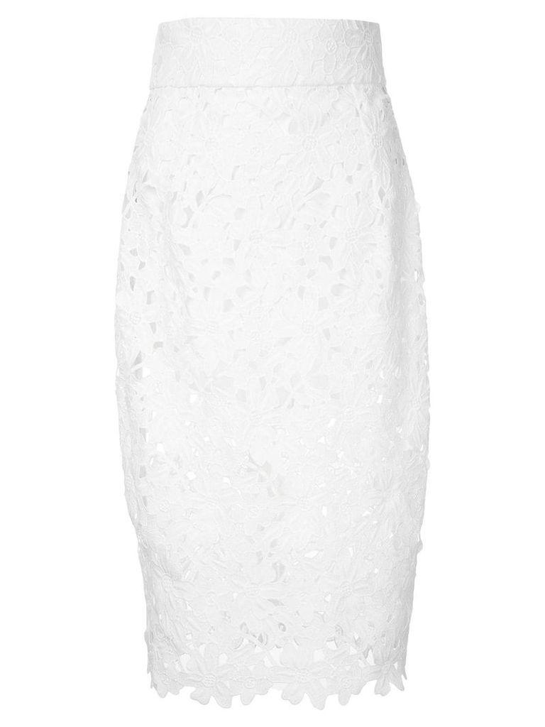 Bambah lace mermaid skirt - White