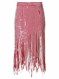 Monse mid-length fringed skirt - Red