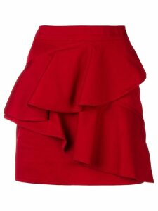 Isabel Marant Étoile frilled fitted skirt - Red