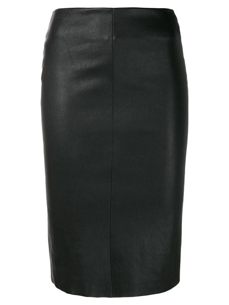 Drome fitted leather skirt - Black
