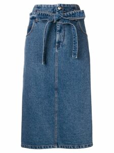 MSGM denim midi skirt - Blue