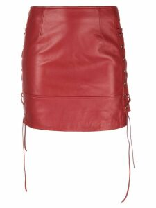 Manokhi biker skirt - Red