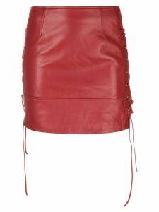 Manokhi biker skirt - Red