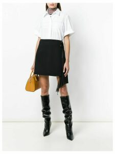 Givenchy side-frill fitted skirt - Black