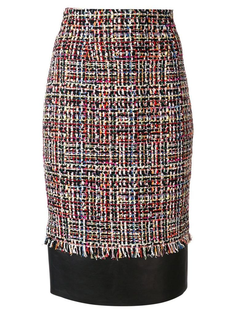 Alexander McQueen tweed pencil skirt - Black