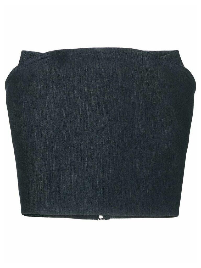 Mugler fitted skirt - Blue