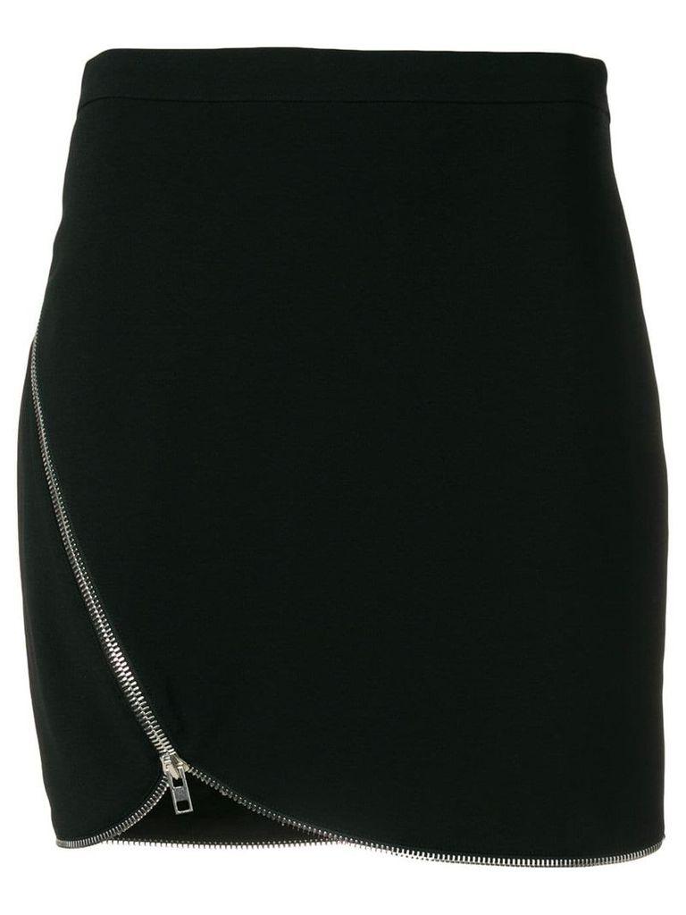 Alexander Wang off-center zipped skirt - Black