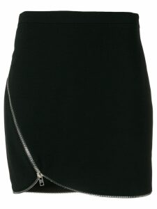 Alexander Wang off-center zipped skirt - Black