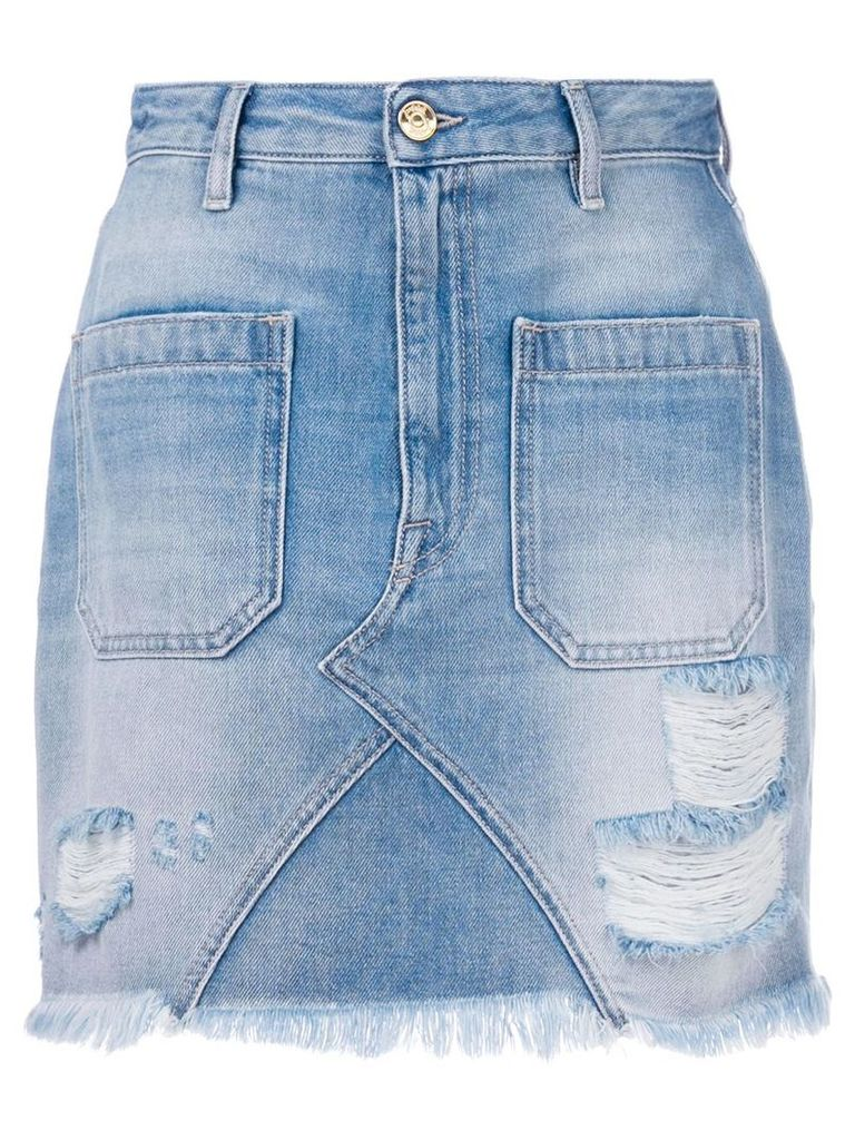 The Seafarer classic fitted denim skirt - Blue