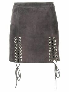 Manokhi skirt with eyelet detail - Grey