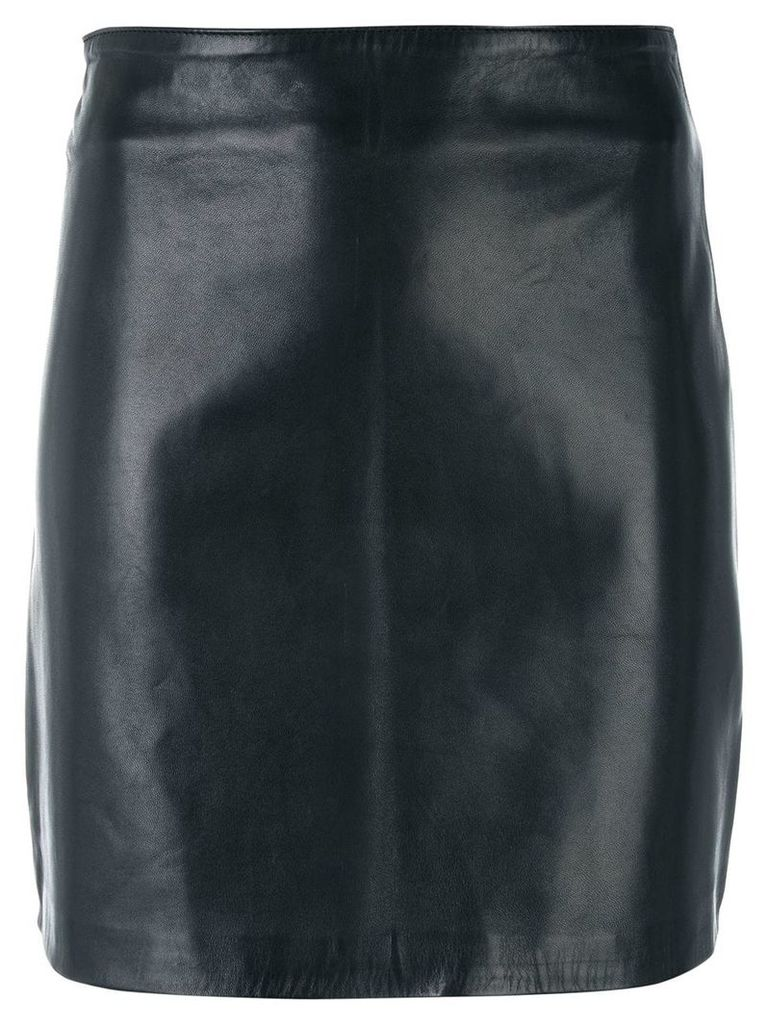 Manokhi fitted leather skirt - Black