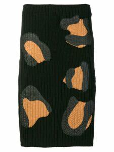 Marco De Vincenzo rib knitted skirt - Black