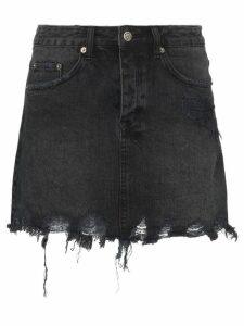 Ksubi Mini Moss distressed denim mini skirt - Black
