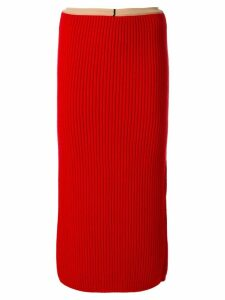 Calvin Klein 205W39nyc rib knit skirt - Red