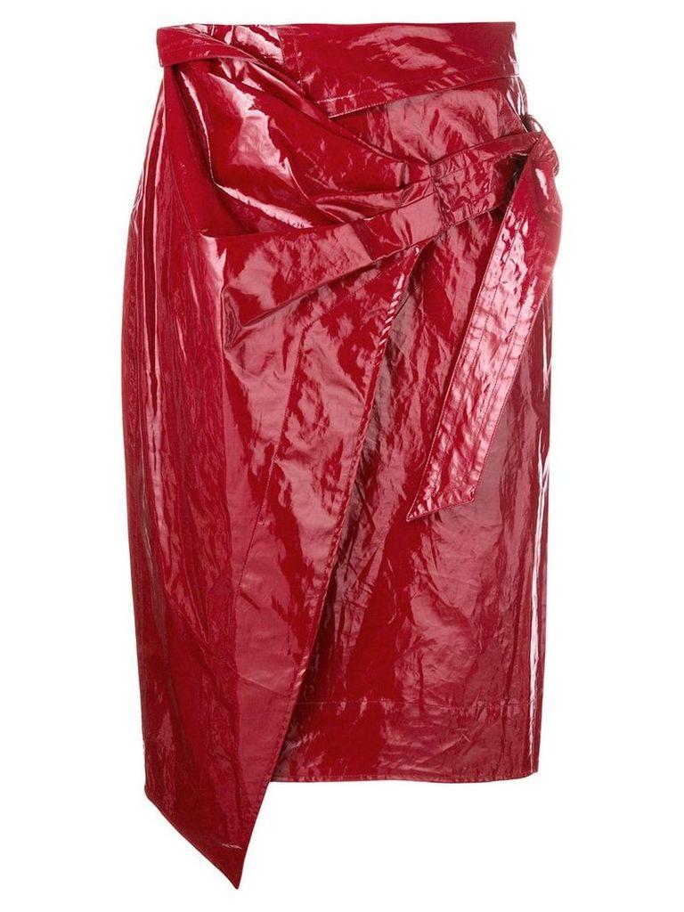 Isabel Marant Eoji Waxed skirt - Red