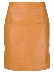 Carven short fitted skirt - Brown