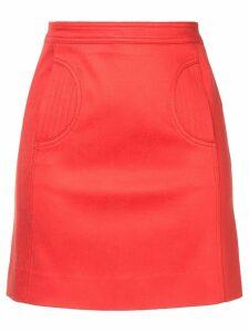 We11done stitch detail mini skirt - Red