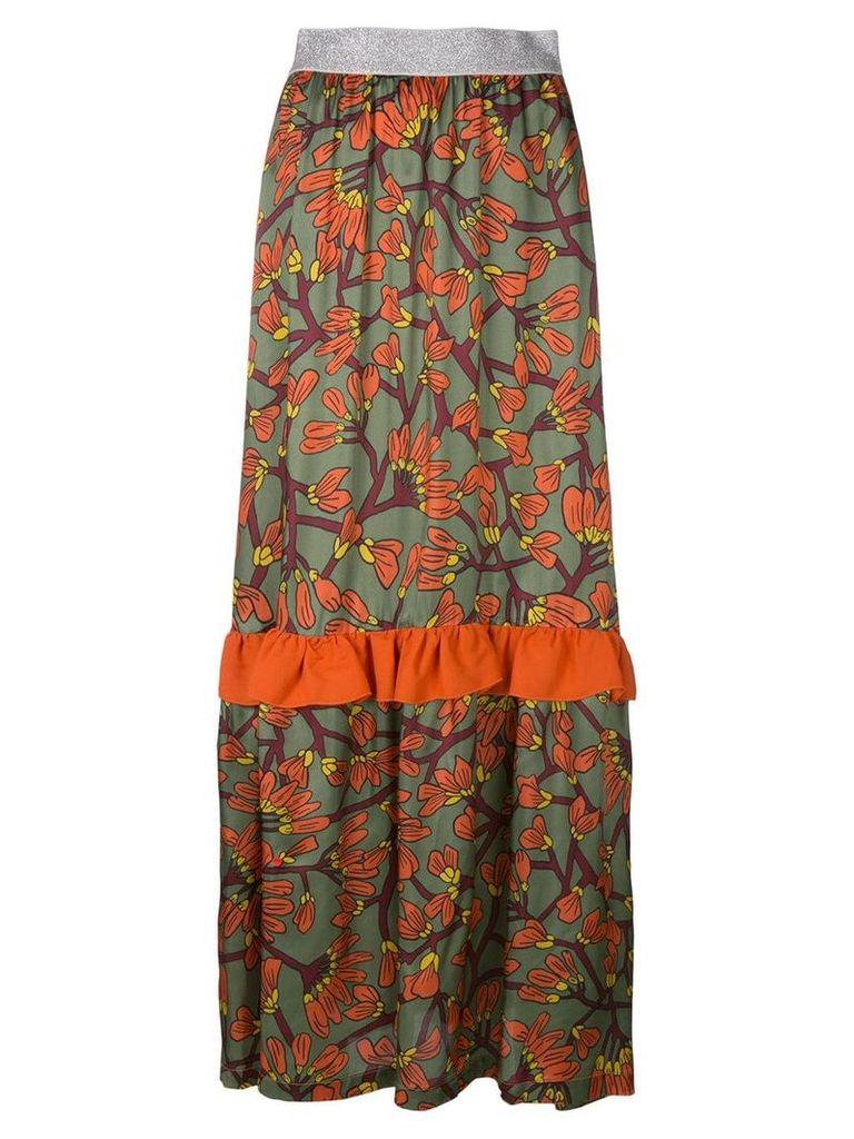 I'M Isola Marras floral print long ruffle skirt - Multicolour